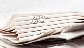 Sheets of newspaper Royalty Free Stock Photos