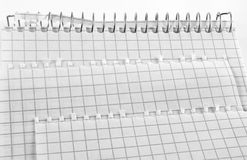 Sheets of notebook. Royalty Free Stock Photo