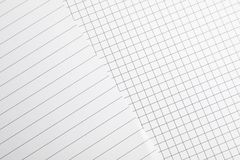 Sheets of notebook as background royalty free stock photo