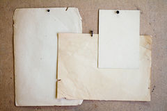Sheets of old paper. Stock Images
