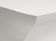 Sheets of paper. A stack of paper sheets with DOF - focus is on the corner Stock Image