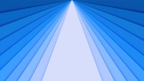 Sheets of paper with blue gradient, idea for banner. The layers of paper in the form of divergent rays for card, poster. Brochure, flyer, design layout. 3d Stock Images