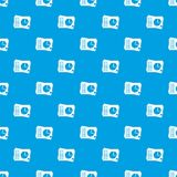 Sheets of paper with charts pattern seamless blue Royalty Free Stock Photo