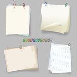 Sheets with paper clip Stock Photography