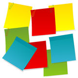 Sheets of paper in different colors Royalty Free Stock Photos