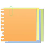 The sheets of paper fastened by a paper clip. Vector illustration vector illustration
