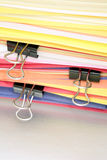 Sheets of paper and paperclips Royalty Free Stock Images