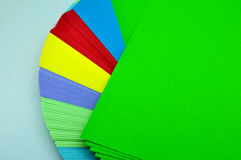 Sheets of paper unfolded Stock Image