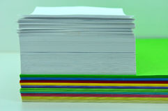 Sheets of paper unfolded. As deck of cards Stock Image