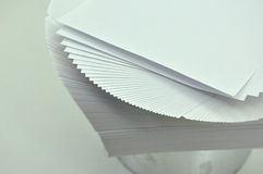 Sheets of paper unfolded Stock Images