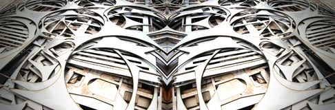 Precision Cut Steel Abstract Royalty Free Stock Images