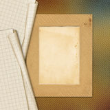 Sheets school notebook paper on abstract background Royalty Free Stock Images