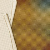 Sheets school notebook paper on abstract background Stock Image