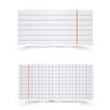 Sheets of school notebooks Stock Photos