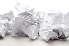 Sheets of white paper. Tossed sheets of white paper royalty free stock image