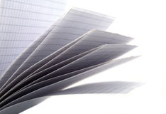 Sheets of a writing-book Royalty Free Stock Photos