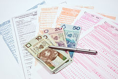 Sheets ZUS Royalty Free Stock Photo
