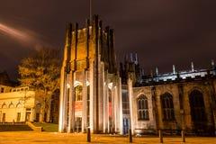 Sheffield Cathedral bis zum Nacht stockfotos