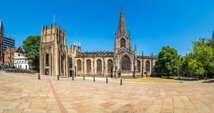 Sheffield Cathedral, rua da igreja, Sheffield foto de stock royalty free