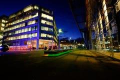 Sheffield centrum miasta przy nocą Fotografia Stock