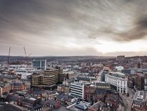 Sheffield City. From above Royalty Free Stock Images