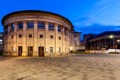 Sheffield City Hall. Is a Grade II listed building in Sheffield, England, containing several venues, ranging from the Oval Concert Hall  to a ballroom Stock Photos