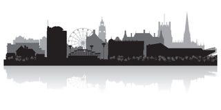 Sheffield England city skyline silhouette Stock Images