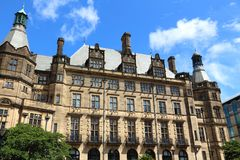 Sheffield. City in South Yorkshire, UK. Town Hall Stock Photo