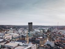 Sheffield City. City of Sheffield, United Kingdom from Royalty Free Stock Photos