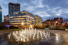 Sheffield , England. Millennium Square is a modern city square in Sheffield, England Stock Image