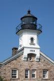 Sheffield Island Lighthouse assombrado em Connecticut Fotos de Stock