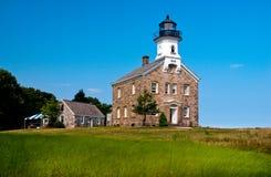 Sheffield Island Lighthouse est considéré être hanté Images stock