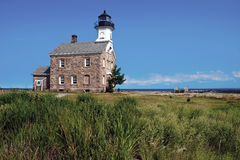 Sheffield Island Lighthouse i Norwalk, CT royaltyfri fotografi
