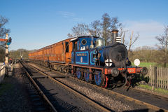SHEFFIELD PARK, EAST SUSSEX/UK - NOVEMBER 22 : Bluebell Steam Tr. Ain approaching Sheffield Park Station East Sussex on November 22, 2015. Unidentified people Stock Photo