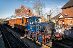 SHEFFIELD PARK, EAST SUSSEX/UK - NOVEMBER 22 : Bluebell Steam Tr. Ain at Sheffield Park Station East Sussex on November 22, 2015. Unidentified people Royalty Free Stock Photography