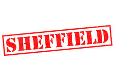 SHEFFIELD. Red Rubber Stamp over a white background Royalty Free Stock Photography