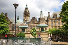 Sheffield Reino Unido Imagens de Stock Royalty Free