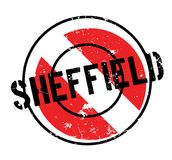 Sheffield rubber stamp Stock Image