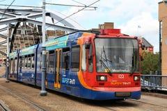 Sheffield spårvagn Royaltyfria Bilder