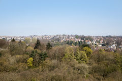 Sheffield Suburbs. A view of the Sheffield suburbs from Ringinglow Royalty Free Stock Photo