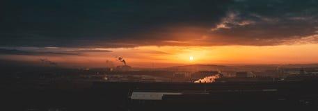 Sheffield Sunrise en hiver images libres de droits