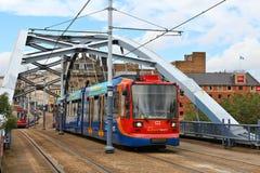 Sheffield Super Tram Arkivbilder