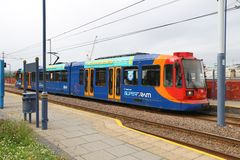 Sheffield Supertram Royaltyfria Bilder