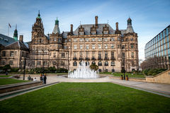 Sheffield Town hall Grass Stock Images