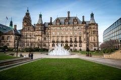 Sheffield Town-Halle Gras Stockbilder