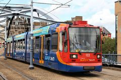 Sheffield tram royalty free stock images