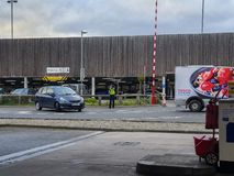SHEFFIELD, UK - 19TH MARCH 2019: Tesco Extra - Savile Street - is closed by police due to a major incident stock photo