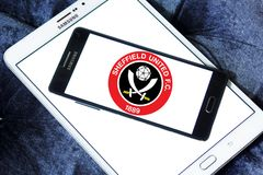 Sheffield United f C Логотип клуба футбола Стоковая Фотография RF