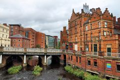 Sheffield, United Kingdom. Sheffield - city in South Yorkshire, UK. River Don and old factories Stock Image
