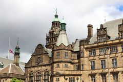 Sheffield, United Kingdom. Sheffield - city in South Yorkshire, UK. Town Hall Royalty Free Stock Photography